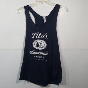 Tito's  Vodka Women's Racerback Tank Size Large